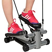 COSTWAY Exercise Step Machine Aerobic Fitness Stepper Ropes Workout W/Cord Arms Leg