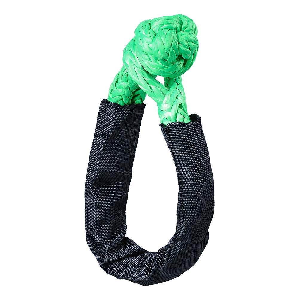 1//2, Green Astra Depot 2pcs Synthetic UHMWPE Soft Shackle for Boating ATV UTV SUV 4X4 Truck Recovery Together with Recovery Rope