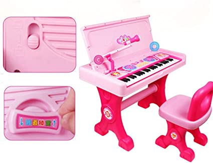 LIPENG-TOY Teclado para niños Chica Piano Juguete Micrófono ...