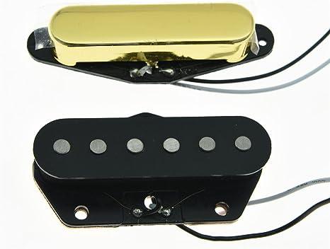 kaish Alnico 5 tele pastilla de puente de cuello 50 Pastillas de sonido Vintage para Telecaster – Oro: Amazon.es: Instrumentos musicales