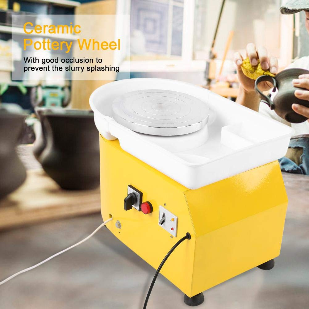 Reliable Pottery Wheel Machine Ceramic Shaping Tool Washable Basin with Pedal for School Teaching Pottery DIY Shop Aufee Pottery Wheel Machine