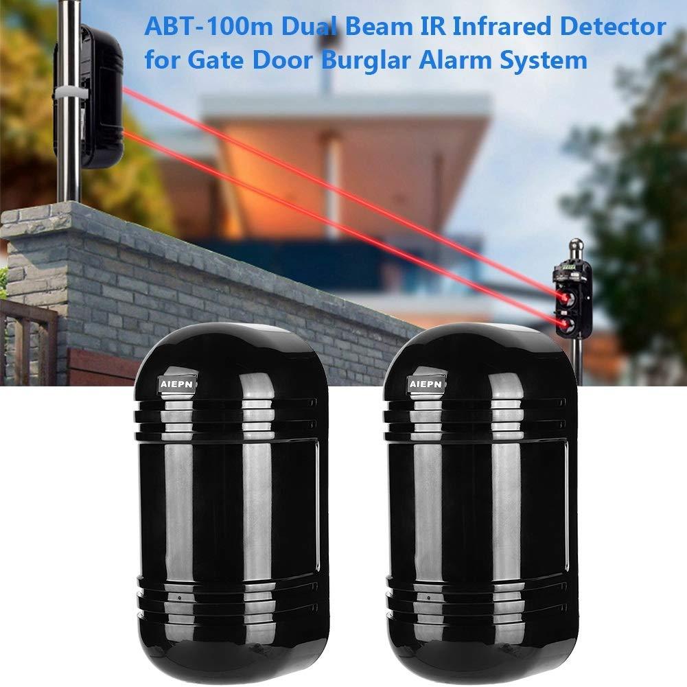 Detector de intrusión de doble haz y alarma - Detector infrarrojo infrarrojo infrarrojo Nikou ABT-100m, detectores de haz de barrera para el sistema de ...