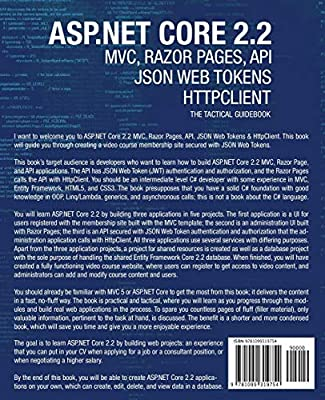 Amazon com: ASP NET Core 2 2 MVC, Razor Pages, API, JSON Web