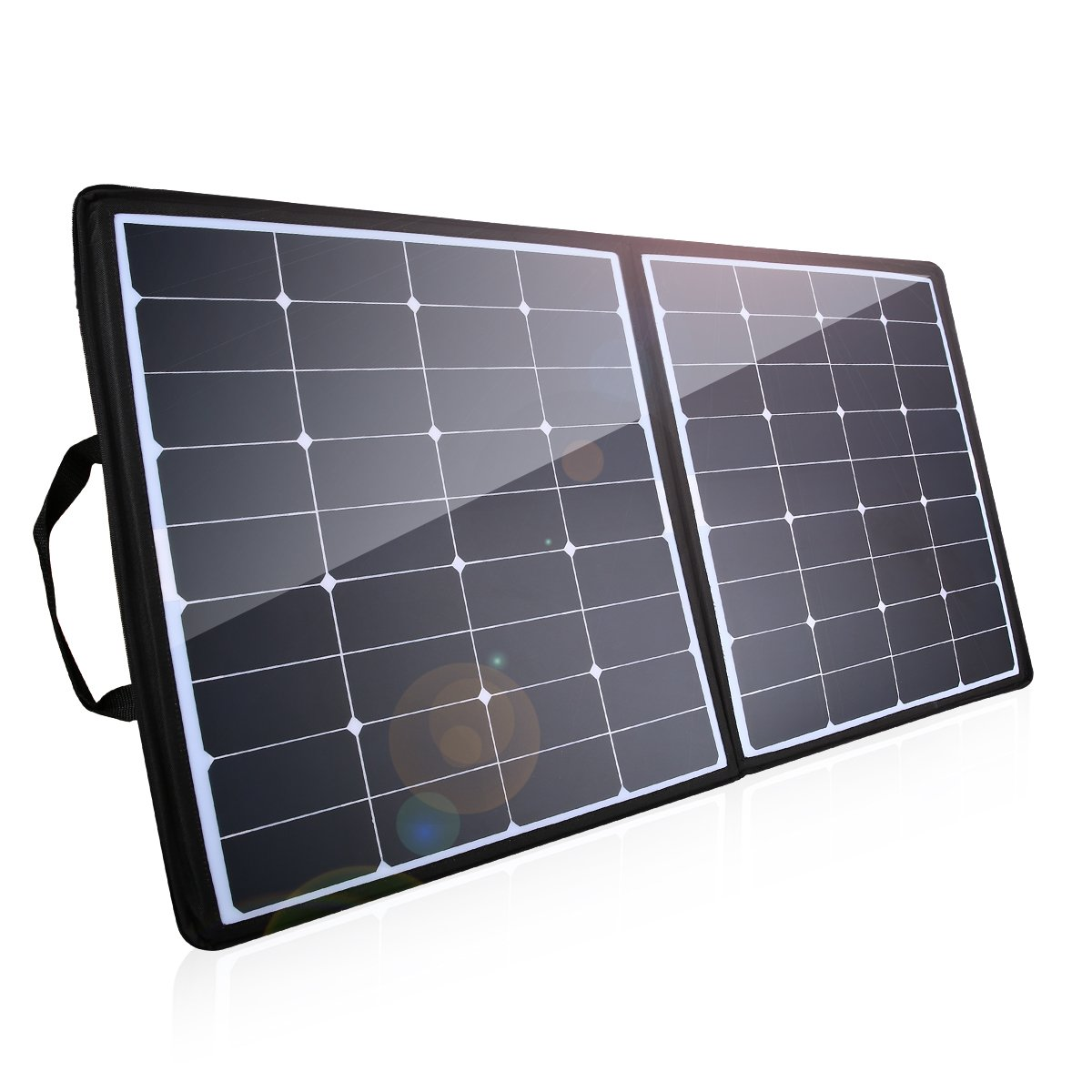 Poweradd [High Effiency] 100W Solar Charger, 18V 12V SUNPOWER Solar Panel Water/Shock/Dust Resistant Foldable Panel for Laptop, Macbook, iPhone, Samsung, Generator, ChargerCenter, UPS and More