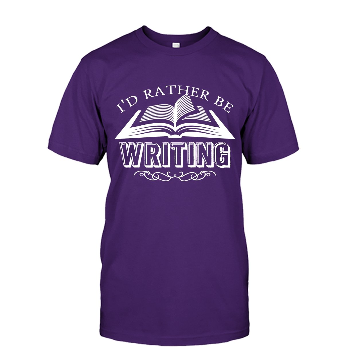 Id Rather Be Writing Tee Shirt Design for Men and Women Writer Cool Tshirt