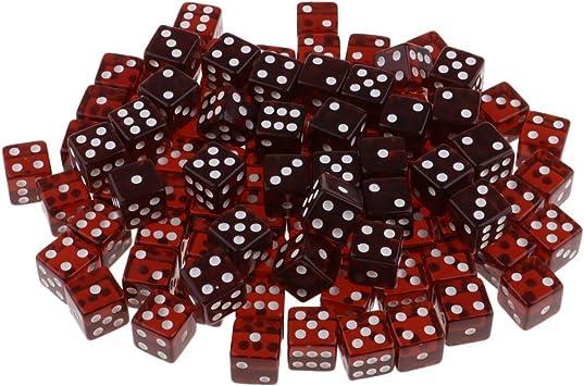 sharprepublic 100 Piezas de D6 Dados para Juegos de Mesa 15 mm - marrón: Amazon.es: Juguetes y juegos