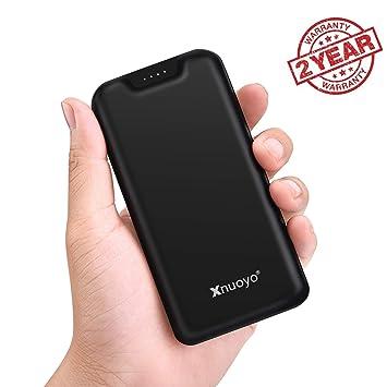 Xnuoyo 20000mAh Power Bank Cargador Portátil Batería Externa de Alta Capacidad con Indicador LED, Entrada Micro y Tipo C y Puertos de Salida Dual ...
