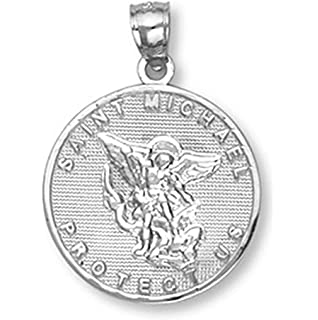 Amazon 10k rose gold saint michael pendant jewelry 10k gold saint michael medal protection charm pendant aloadofball Choice Image