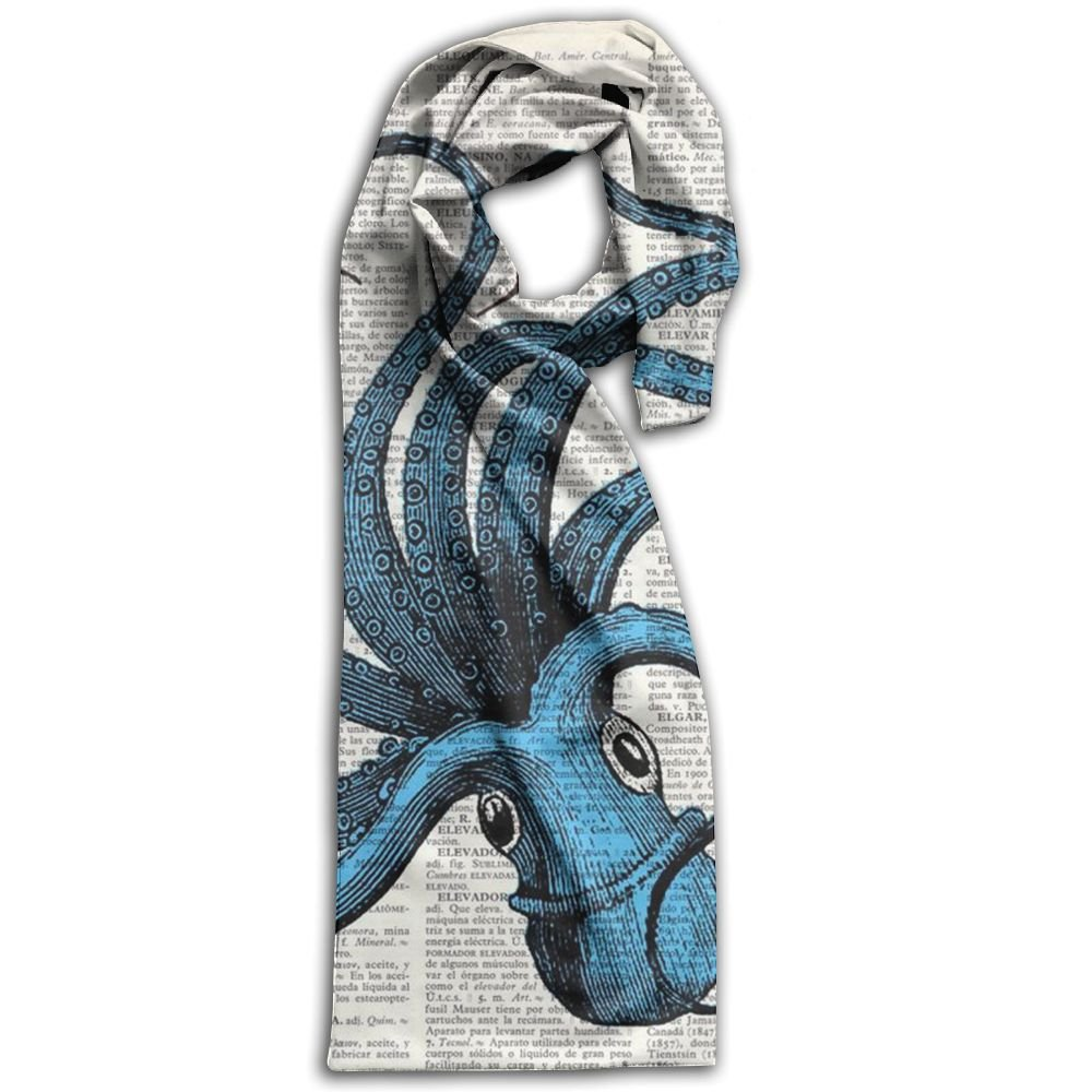 Octopus Oblong Breathable Women Scarf Design For Head Scarf Girl Shawls
