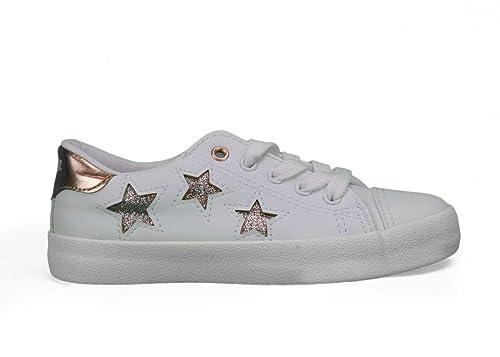 Zapatillas Deportivas MUSTANG Estrellas - 38, Blanco: Amazon.es: Zapatos y complementos