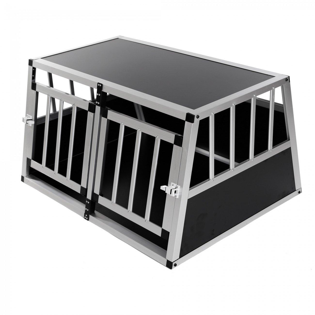 ZOOMUNDO Transportí n para Perros/Jaula de Transporte de Aluminio - 2 Puertas Premium
