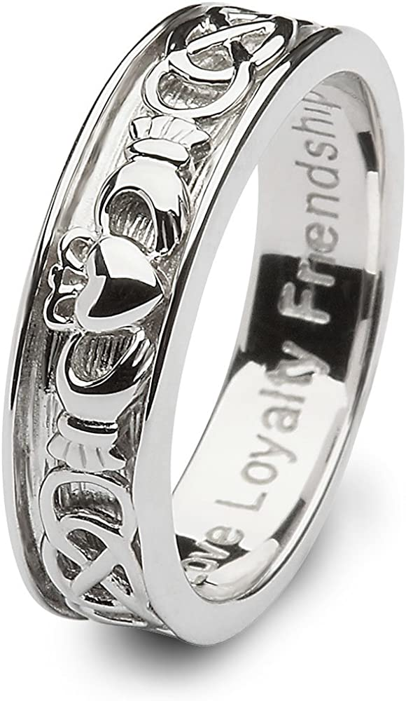 Mens Claddagh Wedding Ring SM-SD9. Made in Ireland.