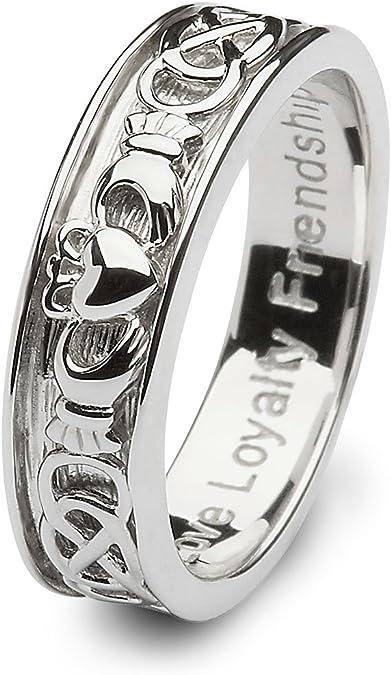 Amazon Com Mens Claddagh Wedding Ring Sm Sd9 Made In Ireland