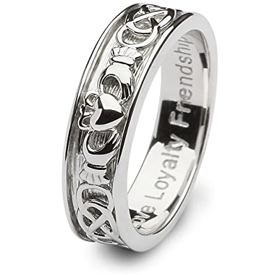 Delicieux Mens Claddagh Wedding Ring SM SD9   Size: 9.5 Made In Ireland.