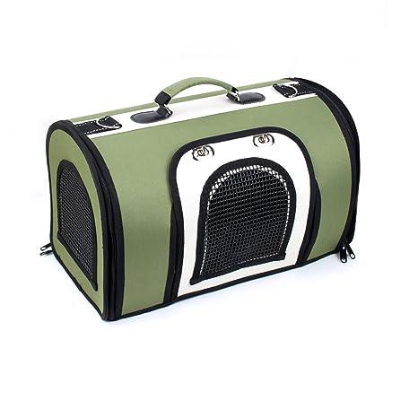 Rosavida bolsa de transporte perro gato con cojín y bandolera para viaje en coche avión tren