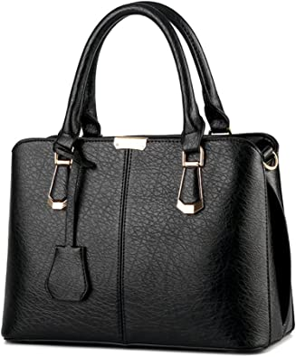 Womens Designer Handbags Ladies Faux Leather Stylish Tote Shoulder Bag Large New