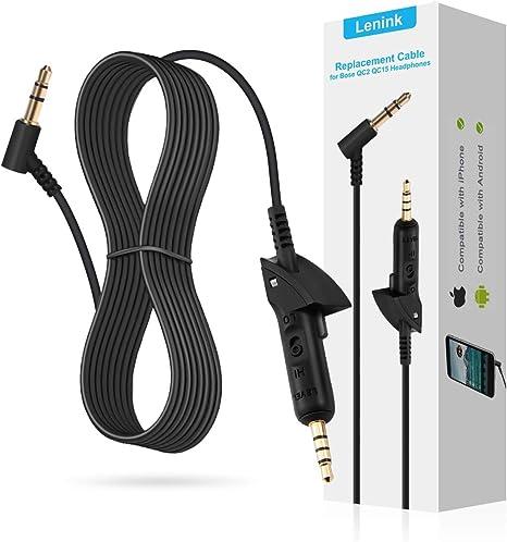 Compatible con iPhone y Android QC2 Auriculares QC15 ReYTID Reemplazo Cable de Audio Compatible con Bose QuietComfort 15