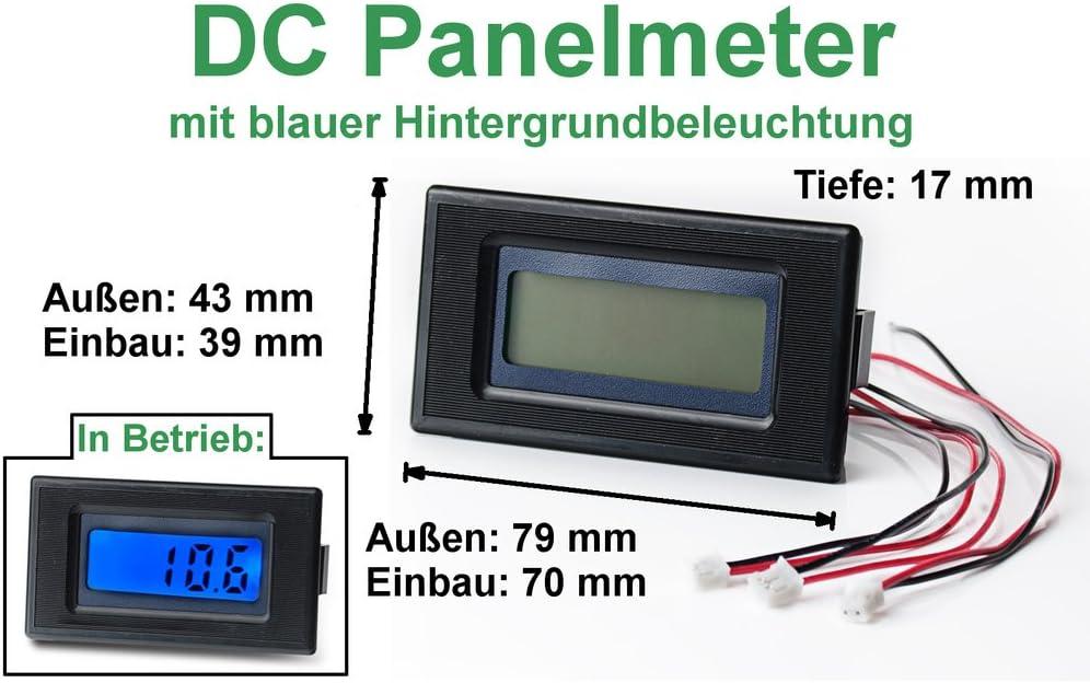 Voltmeter Digital 7-30V LCD Blau Panel Auto Wohnmobil Solar Äolisch Netzteil