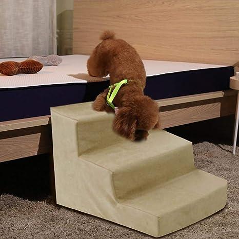 Welltobuy Escaleras para Perros Que suben Escaleras de Esponja para Cama Alta, sofá Escalera para