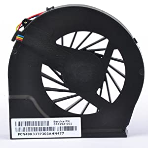 Eathtek Replacement CPU Cooling Fan for HP Pavilion G7-6000 Series, Compatible Part Number 683193-001
