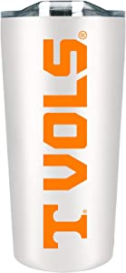 University of Tennessee 18 oz Stainless Steel Double Walled Beverage Tumbler w/ Open & Close Lid - College Gear for SEC Southeastern Conference - For Office, Home or Auto - Show Your UT Pride