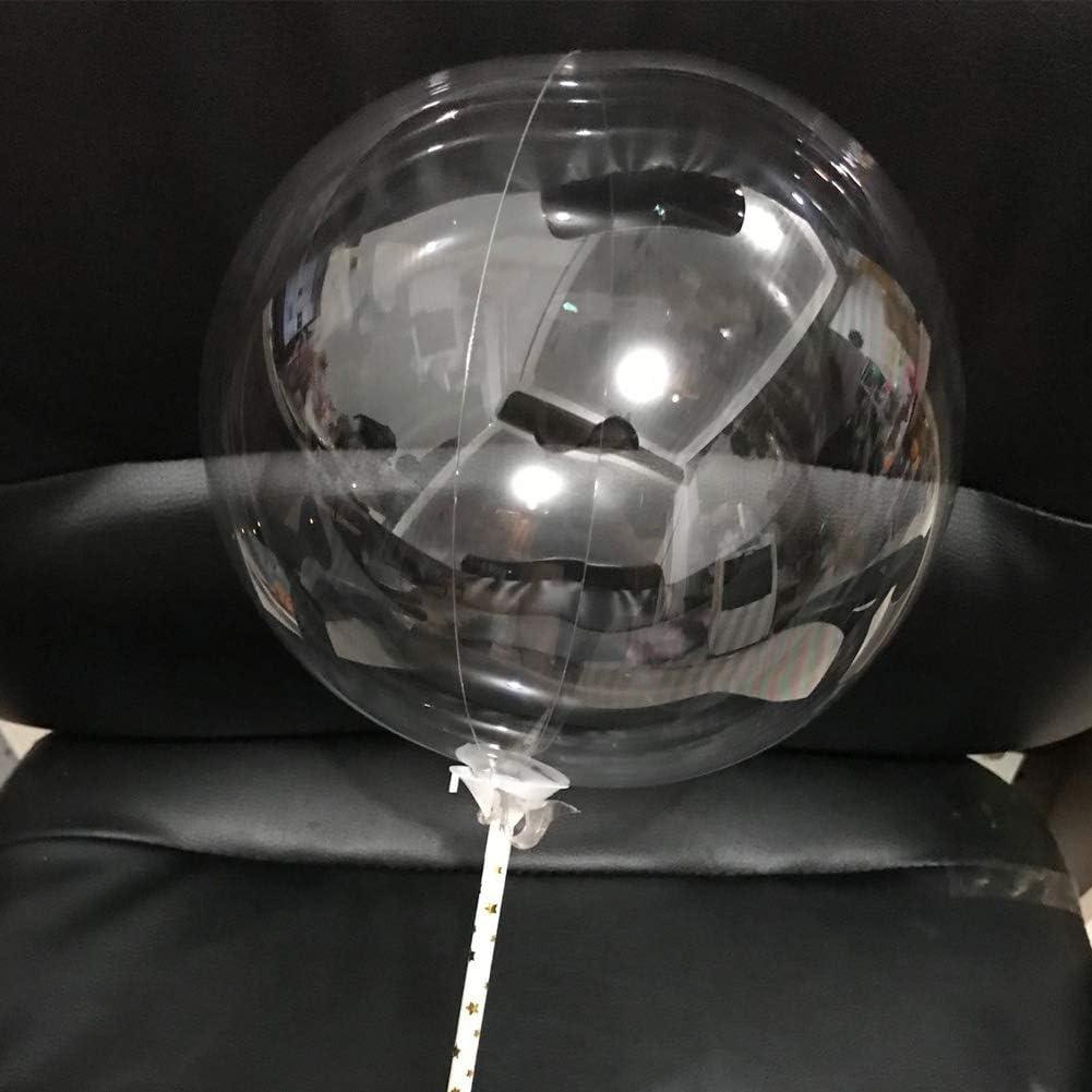 50 globos de burbujas transparentes Bobo, redondos, sin arrugas, para decoración de bodas, fiestas, cumpleaños, día de San Valentín 18 pulgadas As Picture Show