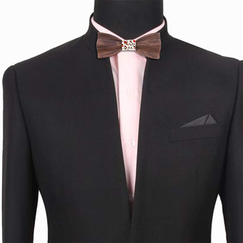 Black Wooden Bow Ties for Men mens tie Wood Bowtie Handmade Butterfly Wood Bow Tie gift Cufflink handkerchief
