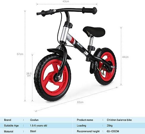 Fascol Bicicleta sin Pedales 2 Bicicleta de Ruedas para 18 Meses a ...