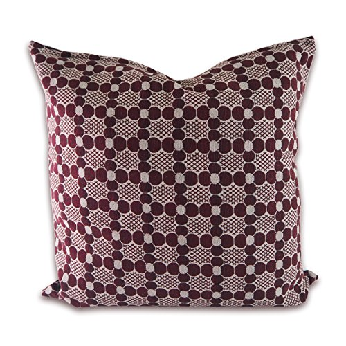 tamarind-bay-18x18-inch-maroon-patterened-pillow-with-black-cotton-backside