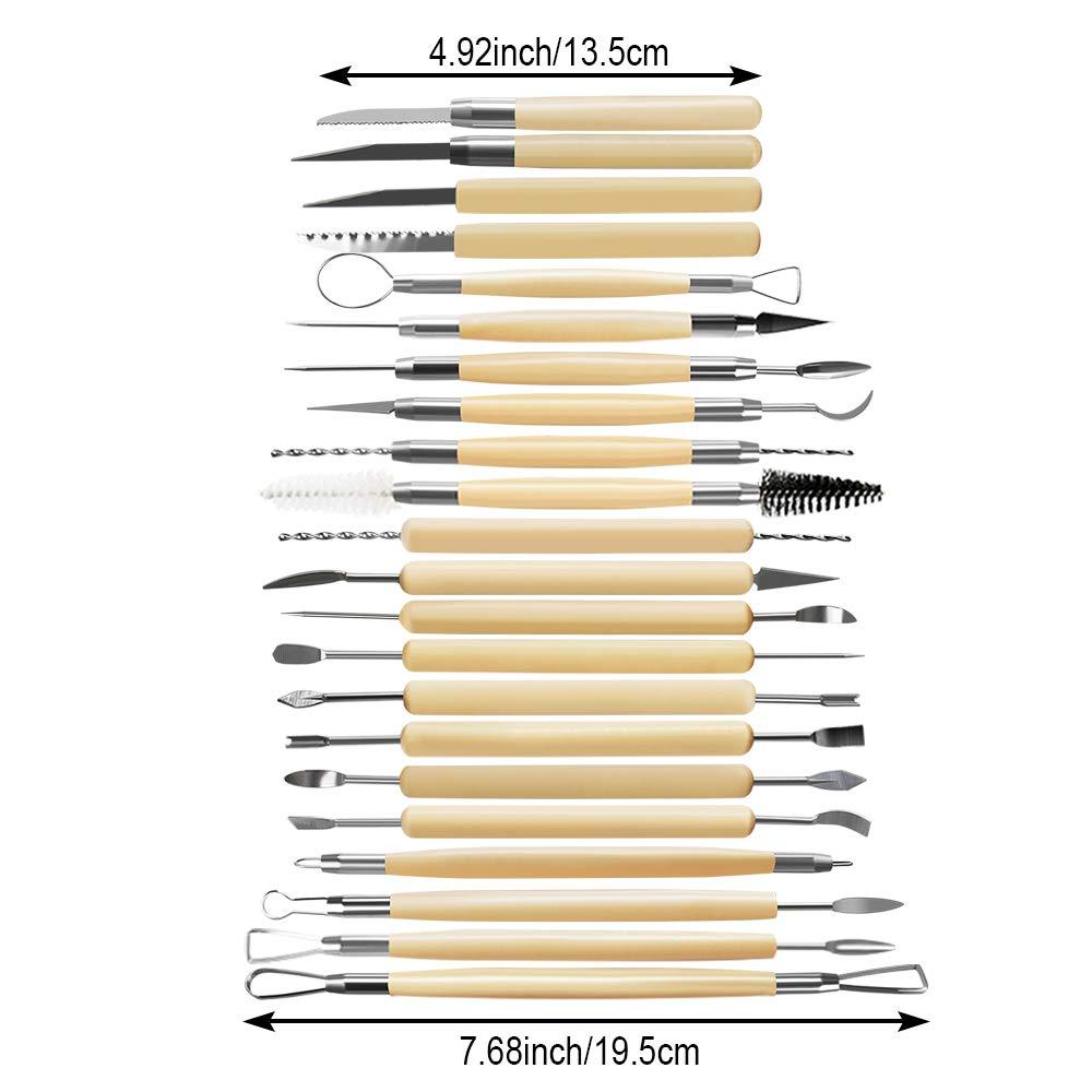 46 Pezzi Strumenti Per Scolpire lArgilla Set Di Ceramiche Argilla Intaglio Strumento Mestiere Regalo Principiante Facile Da Usare Ottimo Per lArgilla Scolpire Modellazione Intaglio Raschiatura