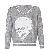 Suéter de punto de estilo preppy para mujer y niñas, de Y2K, de manga larga, de estilo clásico, para niñas de los años…