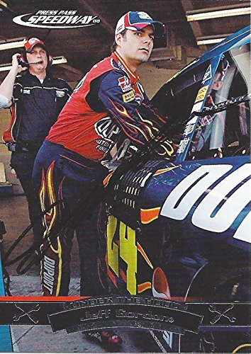 AUTOGRAPHED Jeff Gordon 2008 Press Pass Speedway Racing UNDER THE HOOD (#24 DuPont Team) Hendrick Motorsports Signed NASCAR Collectible Trading Card with COA