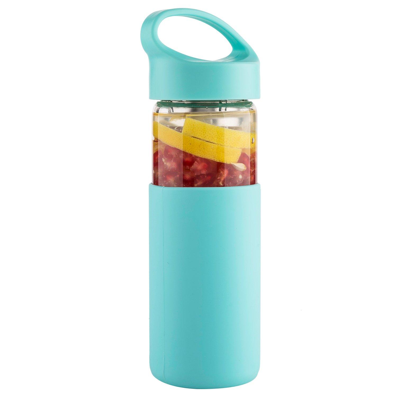 Amazon.com: justfwater borosilicato té y infusión de frutas ...