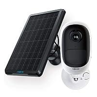 Reolink Argus Pro con Pannello Solare Telecamera di Sicurezza 1080P HD Outdoor Cam Ricaricabile a Batteria WiFi IP Cam con Allarme Sirena, audio a 2 vie, Visione notturna IR, Rilevazione moire PIR (pannello solare incluso)