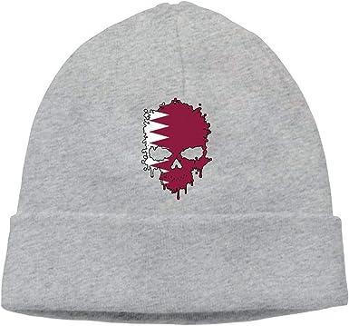 BF5Y3z/&MA Unisex Qatar Skull Knitting Hat Comfortable Beanies Cap