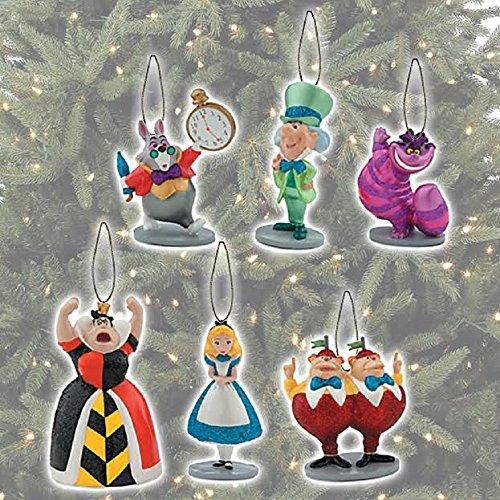 Disney Alice in Wonderland Ornament Set 6 (Classic Mad Hatter Set)
