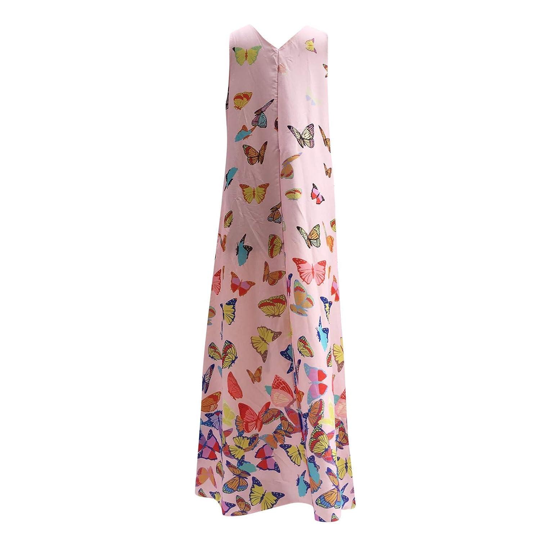 Damen Kleider Lange Sommerkleid Kurzarm Cocktail Elegant Ballkleid Mit /Ärmel