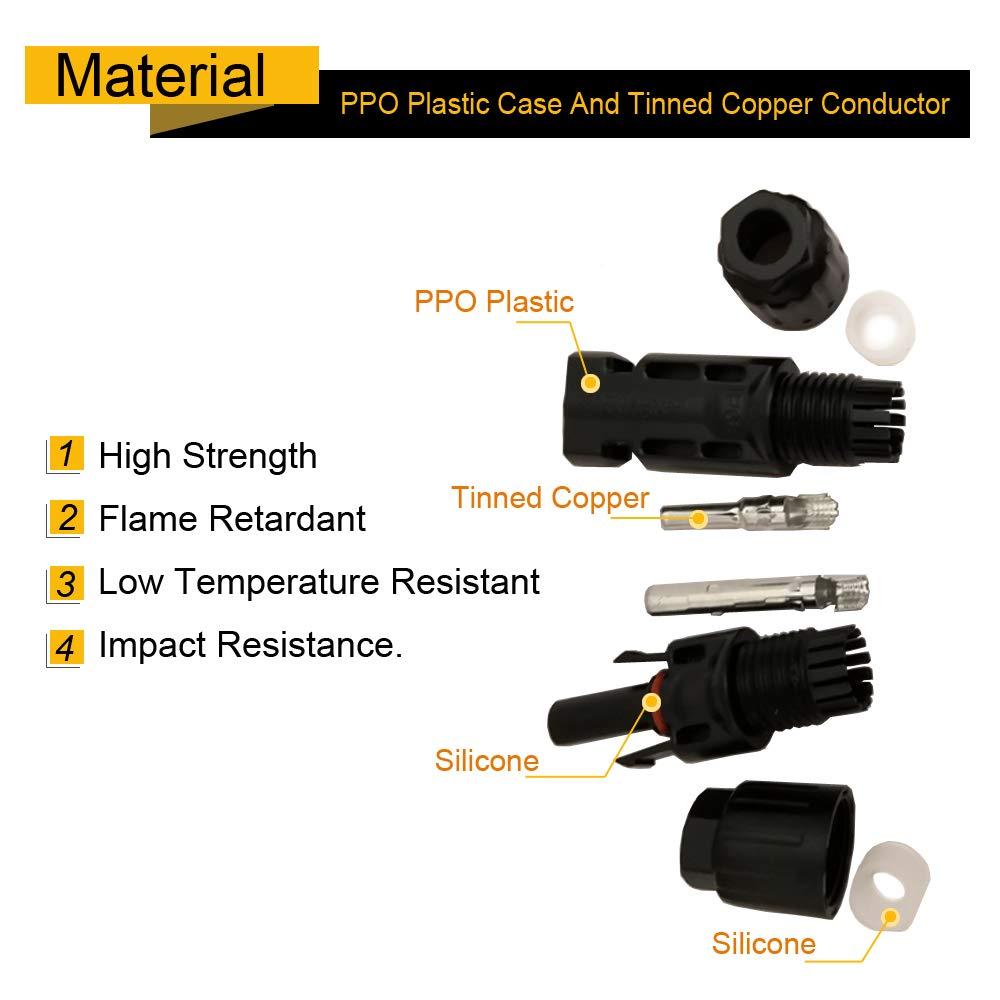 Ficocean/Connecteur/MC4,/M/âle/Femelle/Connecteur/Solaire/Connecteur/PV/Photovolta/ïque/Connecteur/Panneau/Solaire/MC4/Adaptateur/MC4/C/âble/Pour/Pannea