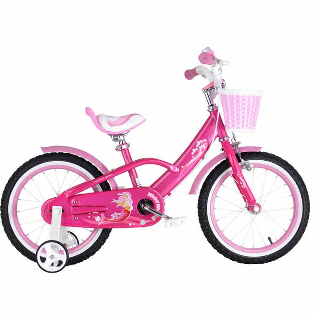 XQ MUMA-11子供用自転車ガールプリンセススタイル3-8歳12/14/16/18インチ人魚用ベビーカー 子ども用自転車 ( サイズ さいず : 16 Inch ) B07C5L9KN1 16 Inch 16 Inch