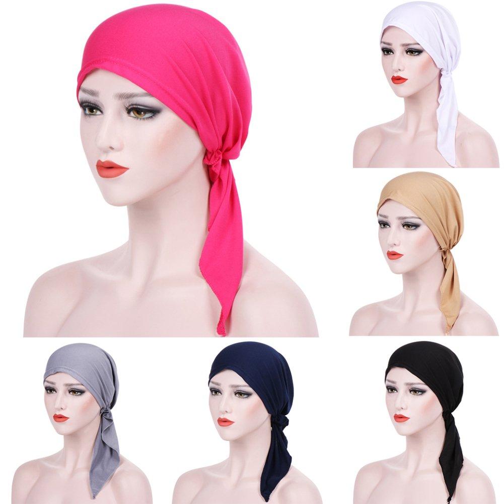 Trenton Bella Scarf Chemo Hat Turban Head Scarves Pre-Tied Headwear Bandana Tichel for Cancer (Black) by TRENTON (Image #2)