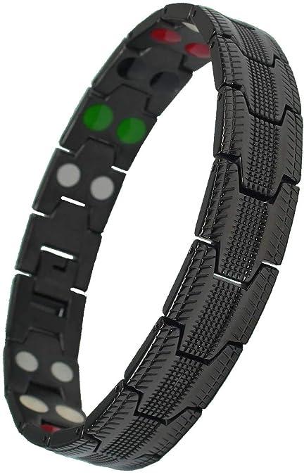 MPS® UBAO Titanio Pulsera Magnética 5 Elementos.Gratis Herramienta de Cambio de tamaño.Elegante Libre Monedero Regalo