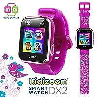 VTech Kidizoom Smartwatch DX2 Edición especial para pájaros florales con pulsera de color violeta vivo extra