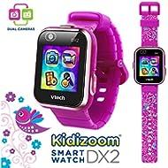 VTech Kidizoom Smartwatch DX2 Special Edition Floral Birds with Bonus Vivid Violet Wristband