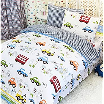 FADFAY Home Textile,Cars Bedding Queen Size,Train Bedding Sets,Cute Kids  Bedding