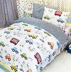 Amazon Com Fadfay Home Textile Cars Bedding Queen Size