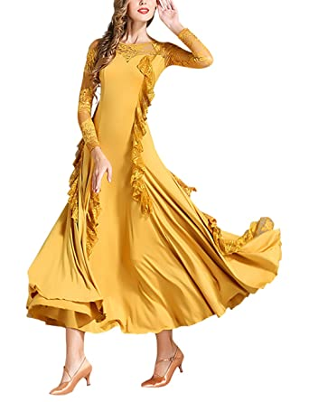 TAAMBAB Vestido de Baile de Manga Larga Mujer Vestido de ...