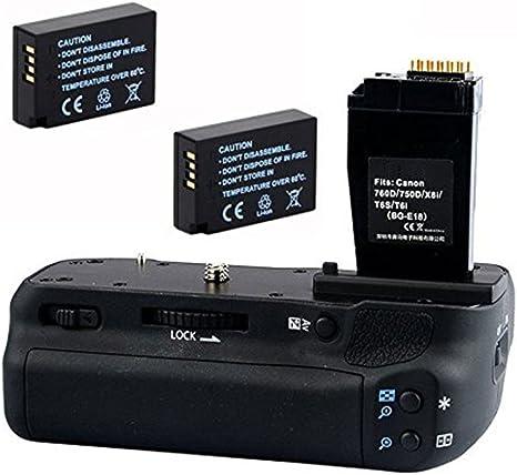 Empuñadura de batería Soporte de mano para cámara réflex digital ...
