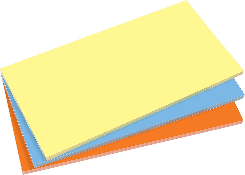 sans colle jaune//bleu//orange 3 blocs x 100 feuilles adh/èrent par l/électricit/é statique SIGEL MU134 Notes /électrostatiques 20 x 10 cm