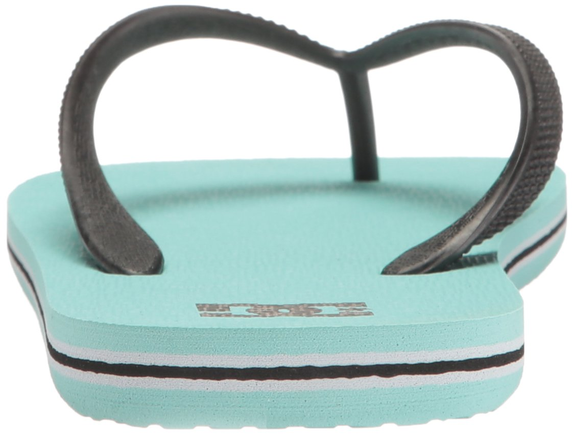 DC Girls' Spray Flip Flop, Turquoise, 6 M US Little Kid by DC (Image #2)