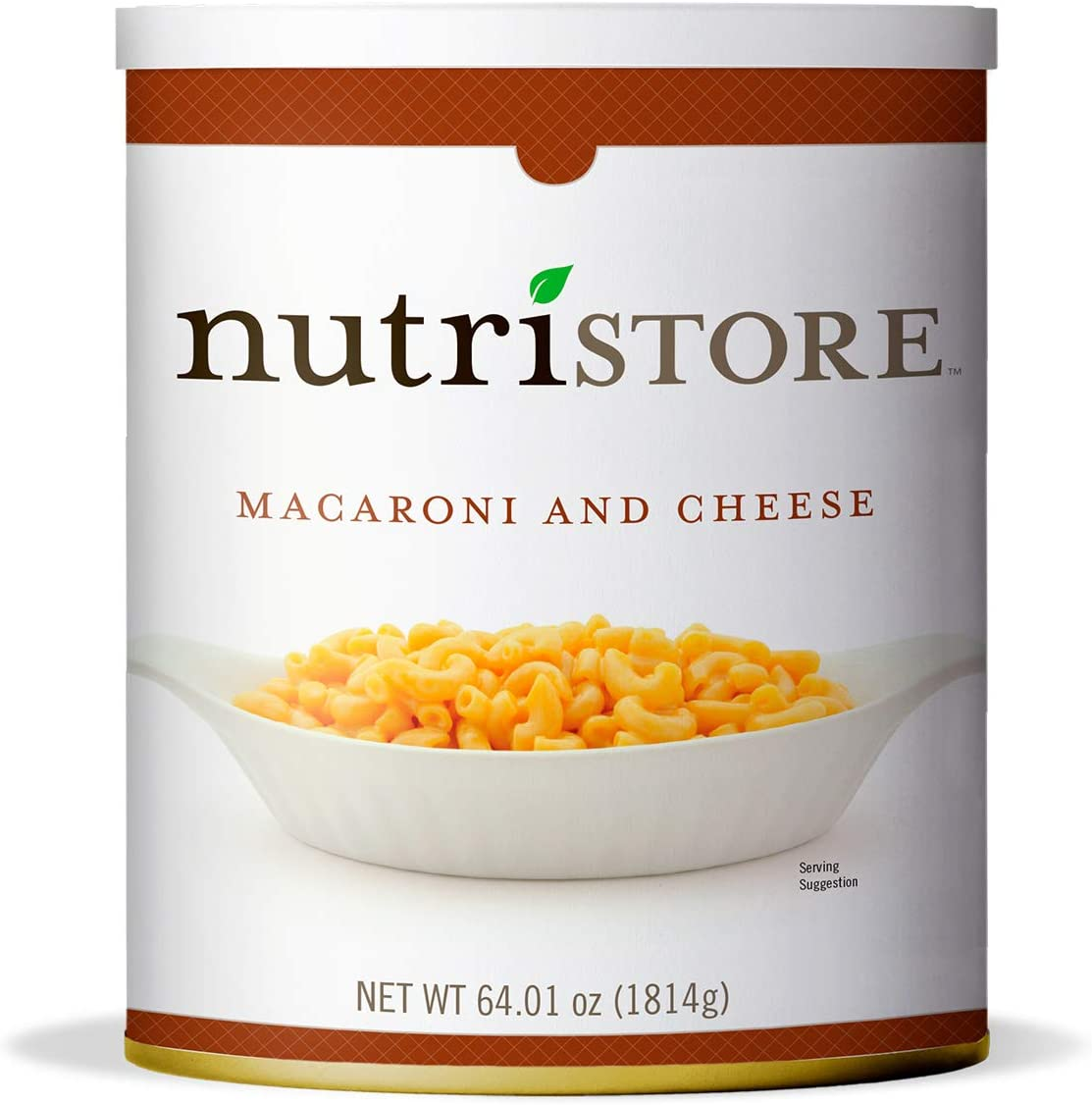 Nutristore Macaroni and Cheese #10 Can | Premium Variety Ready to Eat Meals | Bulk Emergency Food Supply | Breakfast, Lunch, Dinner | MRE | Long Term Survival Storage | 25 Year Shelf Life